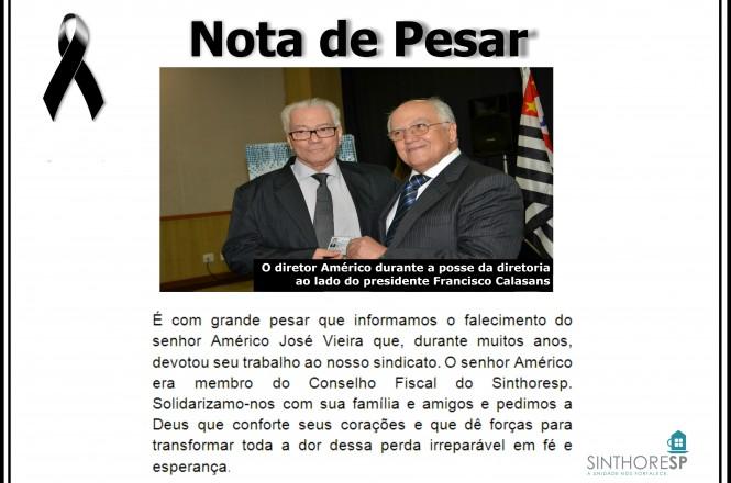 Sr. Américo e o Presidente do Sinthoresp, Francisco Calasans